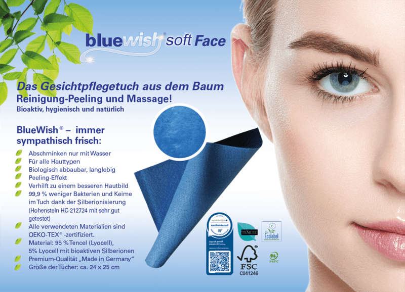 BlueWish® Soft Face Makeup removal and care wipe